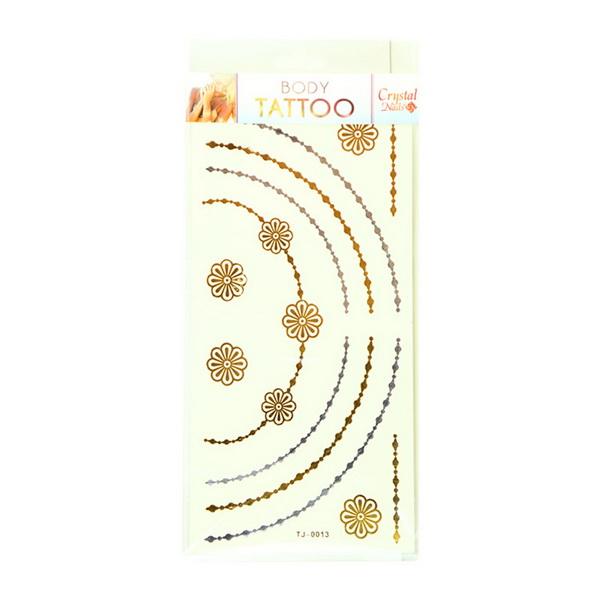 CN Tetoválás matrica - TJ-0013 (arany-ezüst)