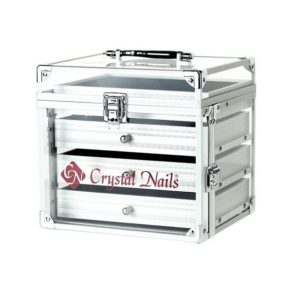 Crystal Nails zselétároló box - NailArt fiókkal