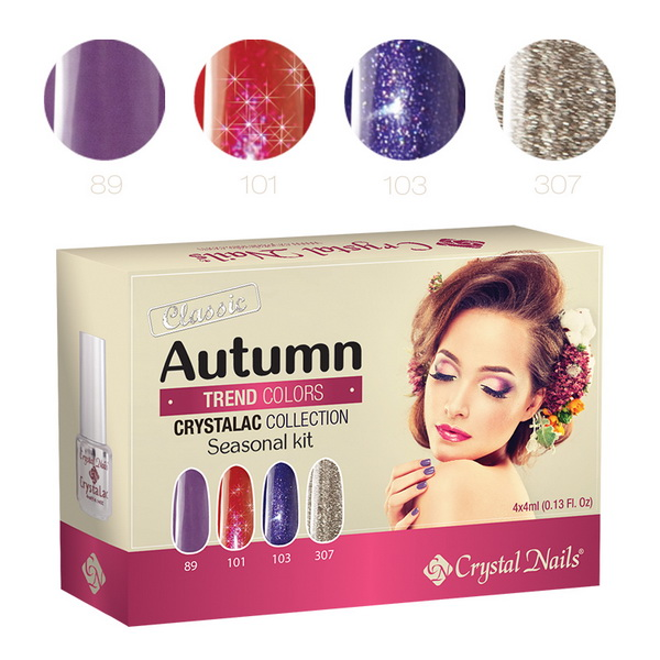 2015 Trend Colors Autumn 3 STEP CrystaLac (Gél Lakk) készlet - 4x4ml