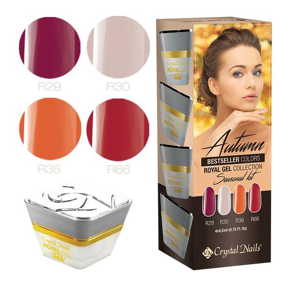 2015 Bestseller Colors Autumn Royal Gel készlet - 4x4,5ml