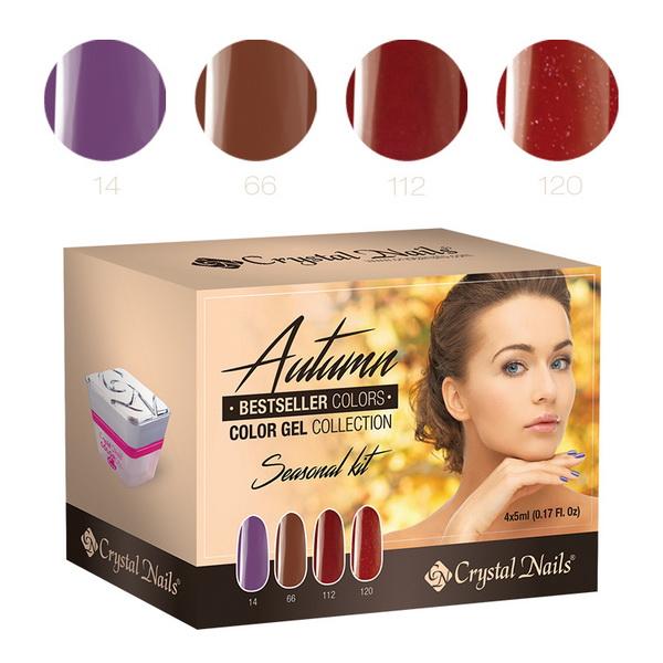 2015 Bestseller Colors Autumn színes zselé készlet - 4x5ml