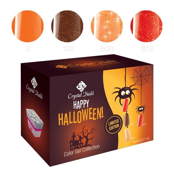 2015 Happy Halloween színes zselé készlet - 4x5ml