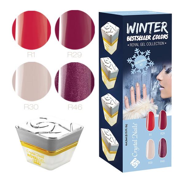 2015 Bestseller Colors Winter Royal Gel készlet - 4x4,5ml