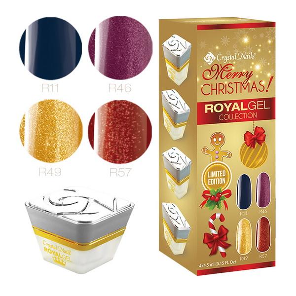 2015 Merry Christmas Royal gel készlet - 4x4,5ml