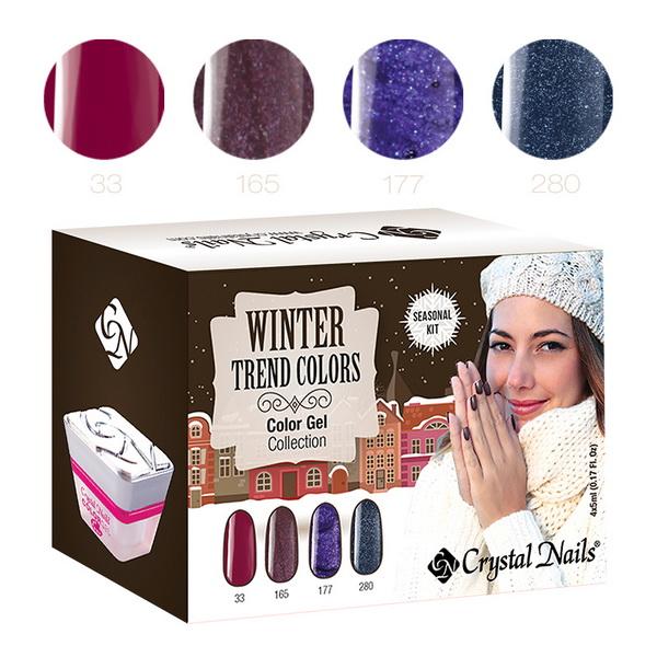 2015 Trend Colors Winter színes zselé készlet - 4x5ml
