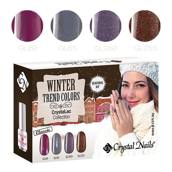 2015 Trend Colors Winter Klasszikus CrystaLac (Gél Lakk) készlet - 4x4ml