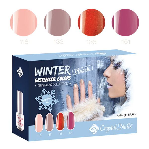2015 Bestseller Colors Winter Klasszikus CrystaLac (Gél Lakk) készlet - 4x4ml