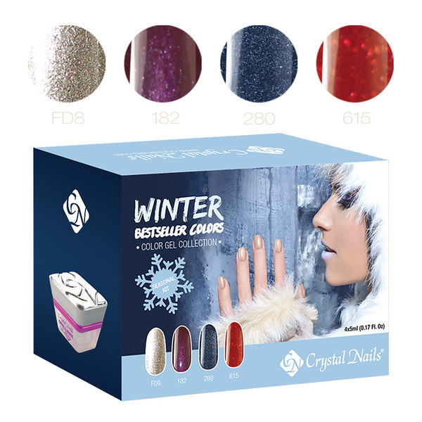 2015 Bestseller Colors Winter színes zselé készlet - 4x5ml