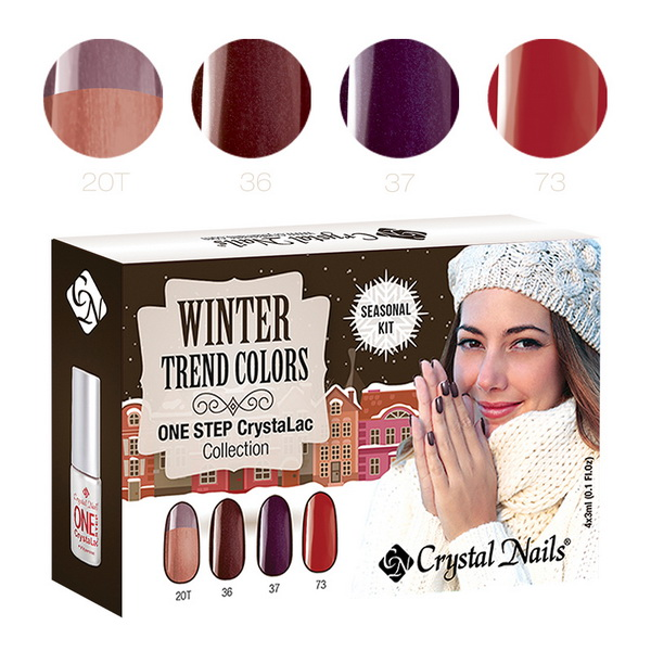 2015 Trend Colors Winter ONE STEP CrystaLac (Gél Lakk) készlet - 4x3ml