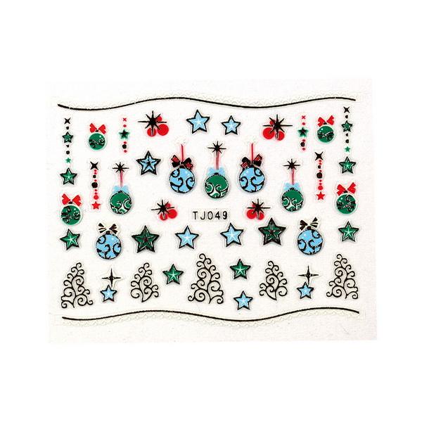CN köröm matrica (TJ049 silver-karácsonyi)