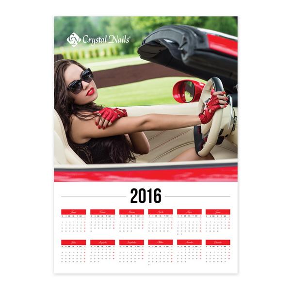 Crystal Nails Poszternaptár 2016 - Ferrari  (50x70cm)