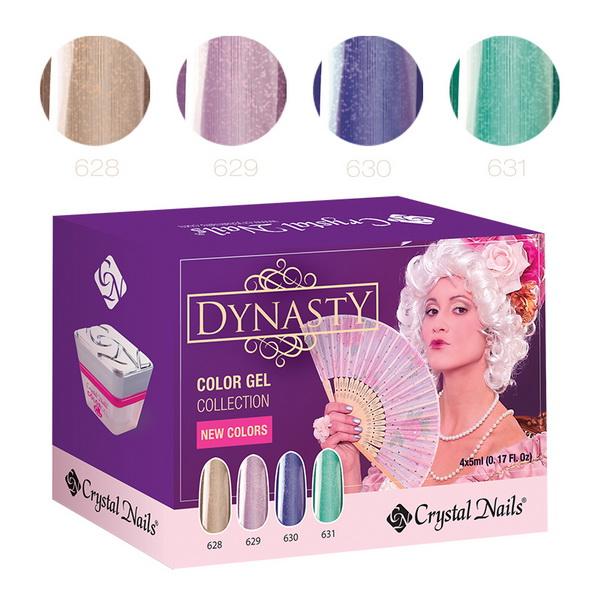 ÚJ! Dynasty színes zselé készlet - 4x5ml