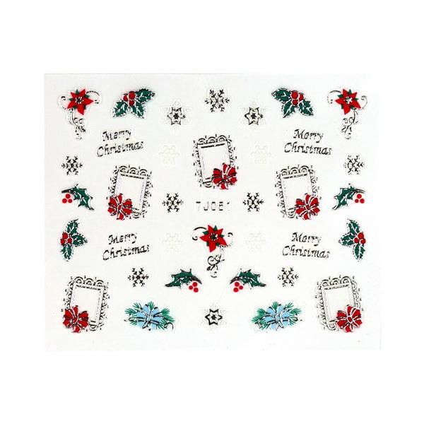 CN köröm matrica (TJ051 silver-karácsonyi)