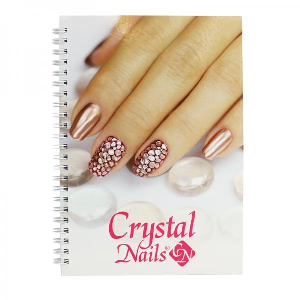 Crystal Nails spirál jegyzetfüzet