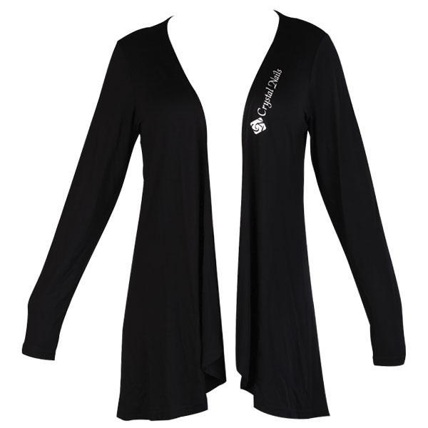 CN Fashion hosszított kardigán fekete CN nyomattal - M