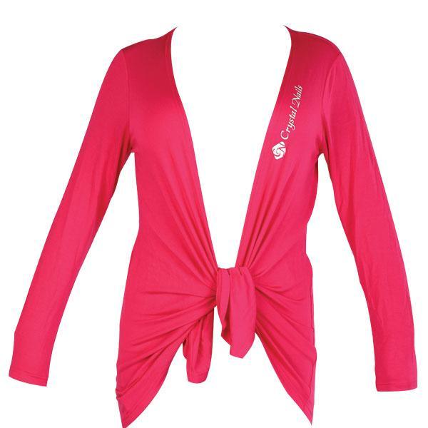 CN Fashion hosszított kardigán pink CN nyomattal - S