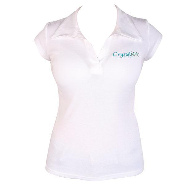 Crystal SPA Galléros fehér póló - M