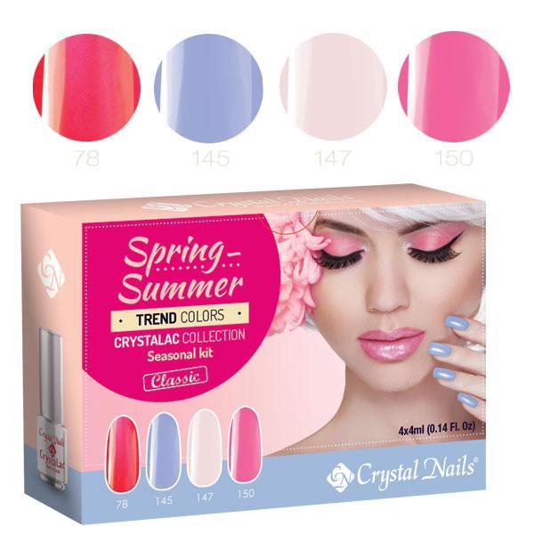 2016 Trend Colors Spring-Summer 3 STEP (klasszikus) CrystaLac készlet (4x4ml)