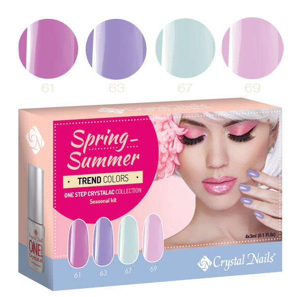 2016 Trend Colors Spring-Summer ONE STEP CrystaLac készlet (4x3ml)