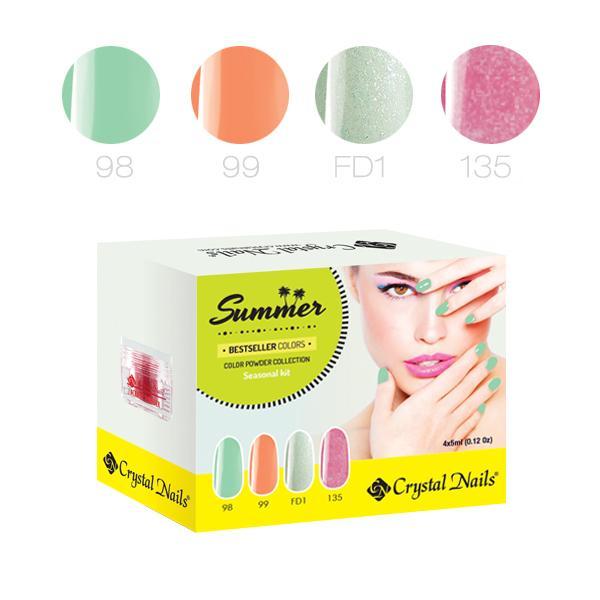 Új! Bestseller Colors Summer 2016 színes porcelán készlet (4x5ml)