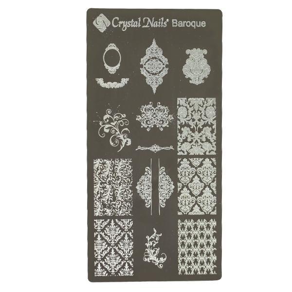 ÚJ! Egyedi Crystal Nails Körömnyomda lemezek - Baroque