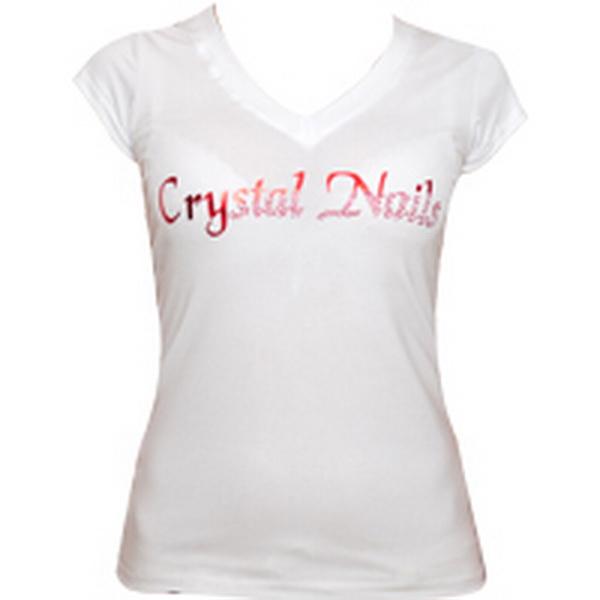 Crystal Nails Strassz és tükörfóliás divatpóló, fehér L