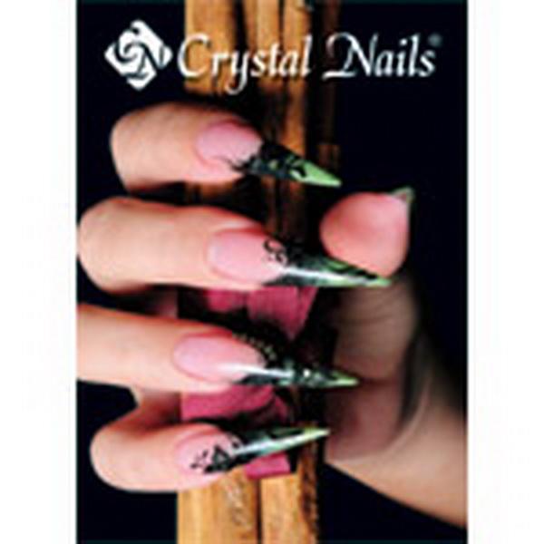 Crystal Nails poszter 8 - Kovács Gabi zöld köröm 50x70cm