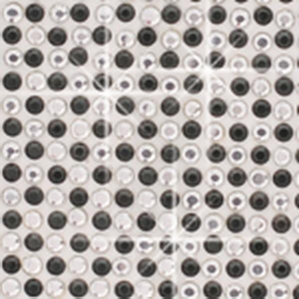 Crystal Sticker dekor fólia - Kristály-fekete 6x10cm