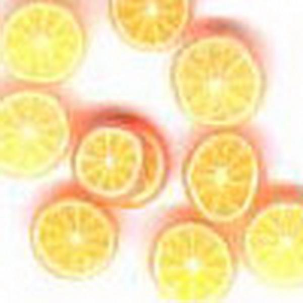 Gumi gyümölcsdísz - narancs