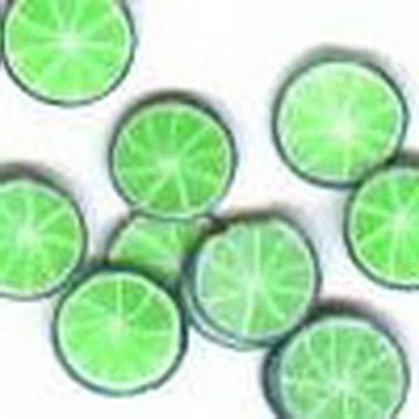 Gumi gyümölcsdísz - zöldcitrom