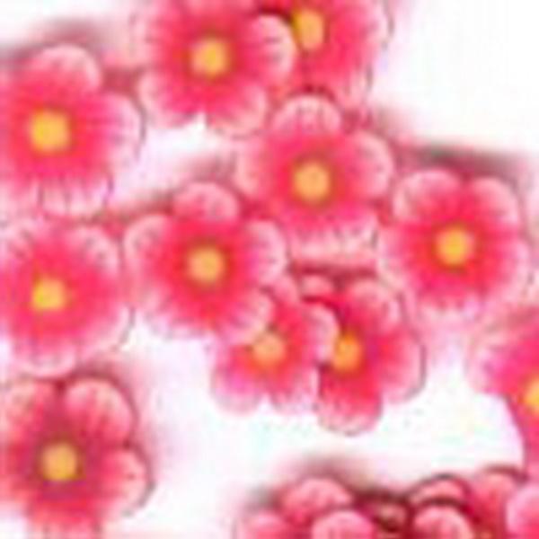 Gumi virágdísz - piros