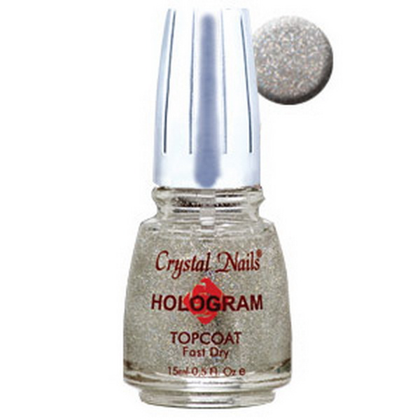 Hologram Topcoat - Ezüst - 15ml