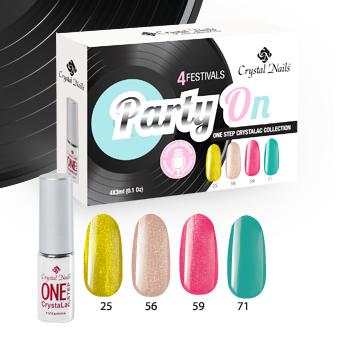 Party On! – 4festivals ONE STEP CrystaLac bulikészlet (4x3ml)