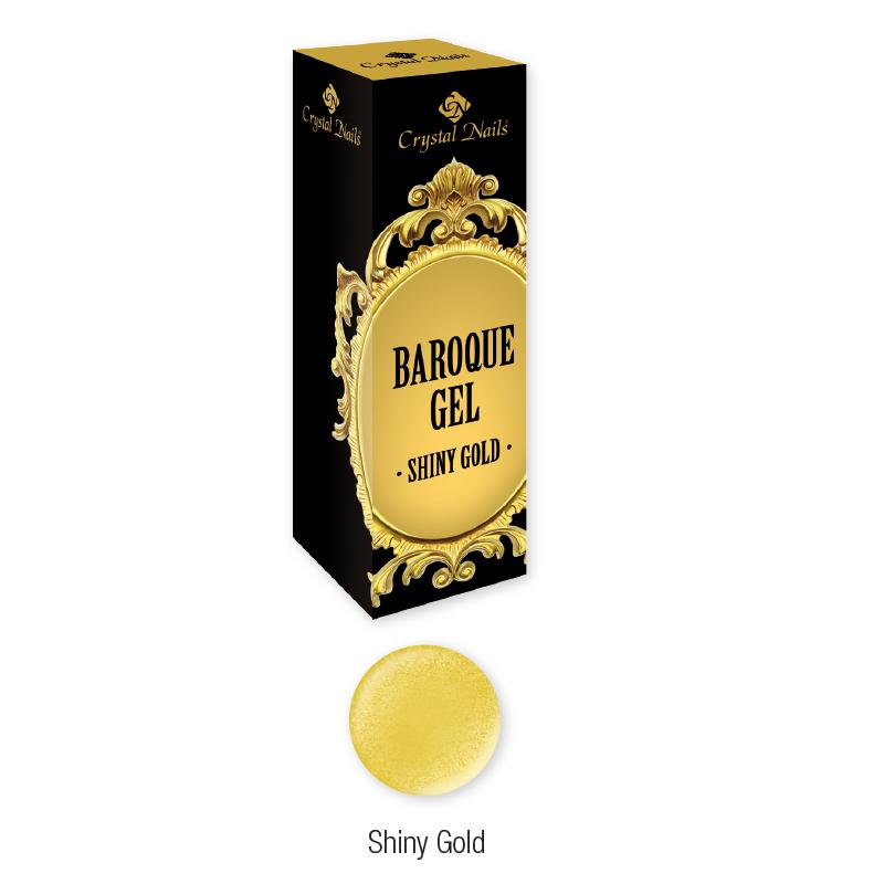 Baroque Gel díszítő zselé - Shiny Gold (5ml)