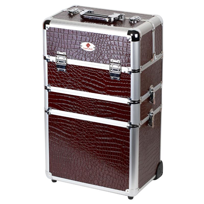 Óriás fémbőrönd Crystal Nails logóval - Marsala a91ba0705e