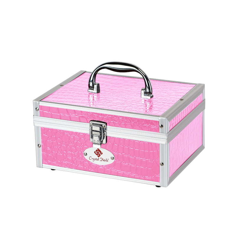 Kicsi fémtáska Crystal Nails logóval - Pink