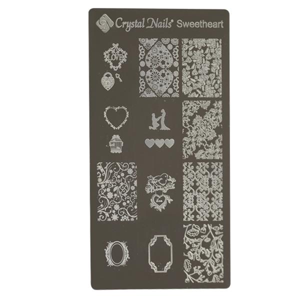 Egyedi Crystal Nails Körömnyomda lemez - Sweetheart