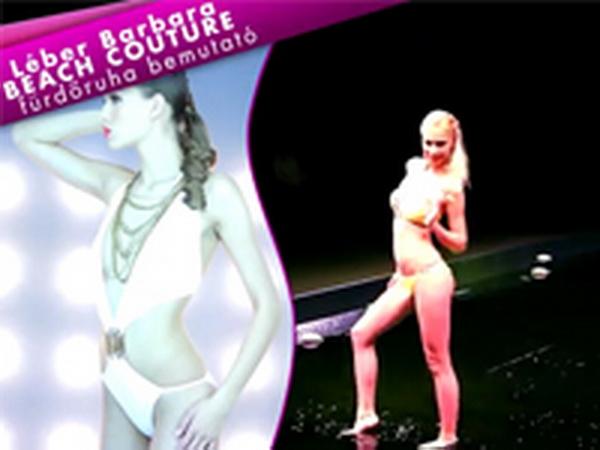 Léber Barbara Beach Couture fürdőruha bemutatója a Crystal Nails közreműködésével