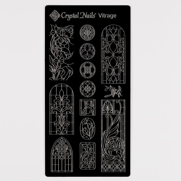 Egyedi Crystal Nails körömnyomda lemez - Vitrage