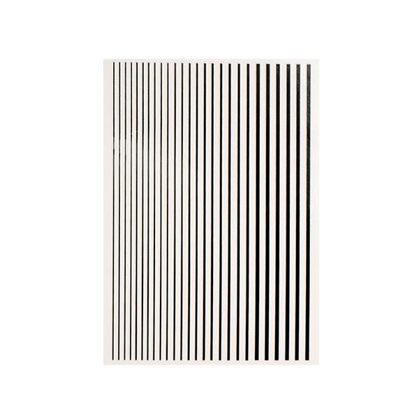 Magic stripes sticker - BLACK