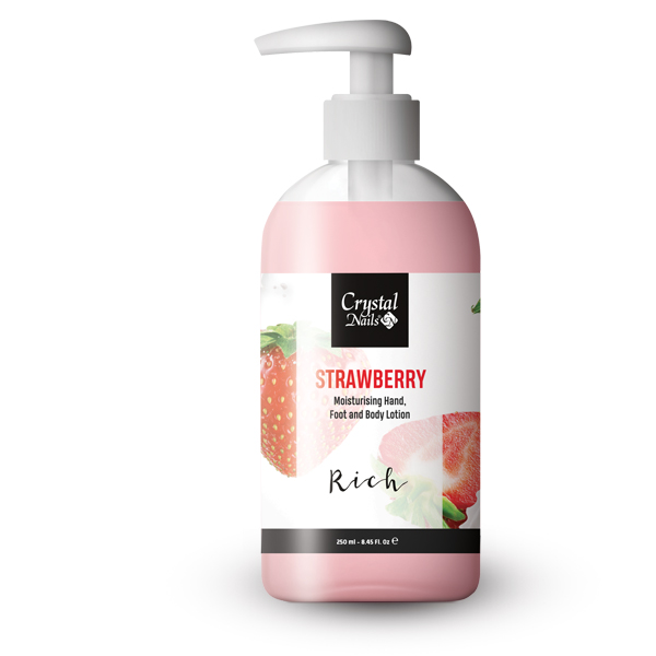 Moisturising Hand, Foot and Body Lotion - Strawberry Lotion - Rich 250ml