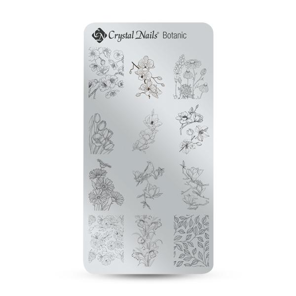 Egyedi Crystal Nails Körömnyomda lemez - Botanic