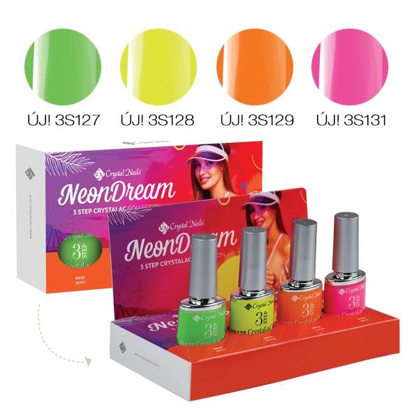 Neon Dream 3 STEP CrystaLac készlet (4x4ml)