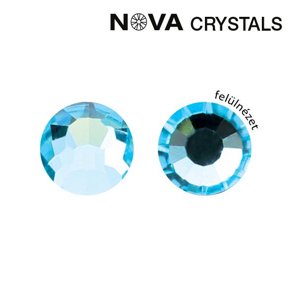 NOVA Crystal Strasszkő - Aquamarine SS8 (2,4 mm)