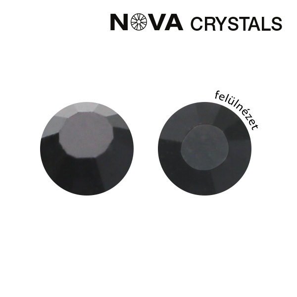 NOVA Crystal Strasszkő - Black SS8 (2,4 mm)