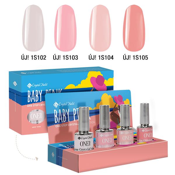Baby Pink ONE STEP CrystaLac készlet (4x4ml)