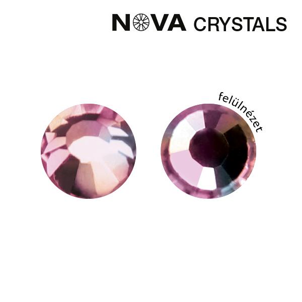 NOVA Crystal Strasszkő - Light Rose AB SS8 (2,4 mm)