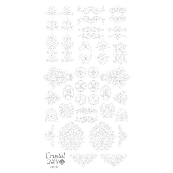 Színező alap matrica - Rococo Ezüst