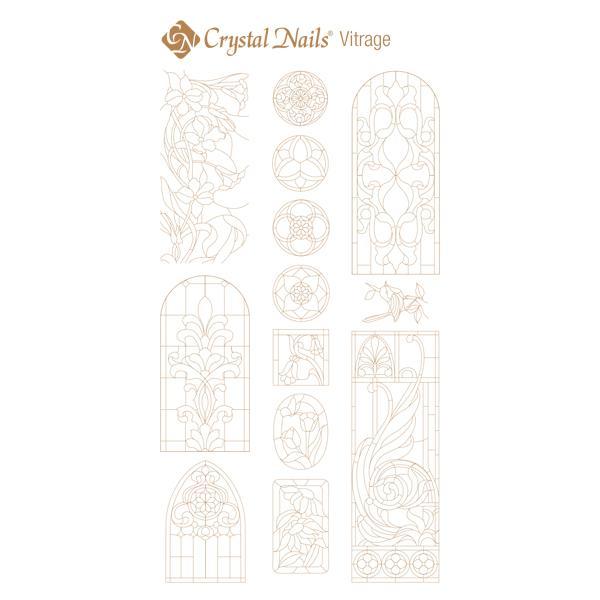 Színező alap matrica - Vitrage Arany