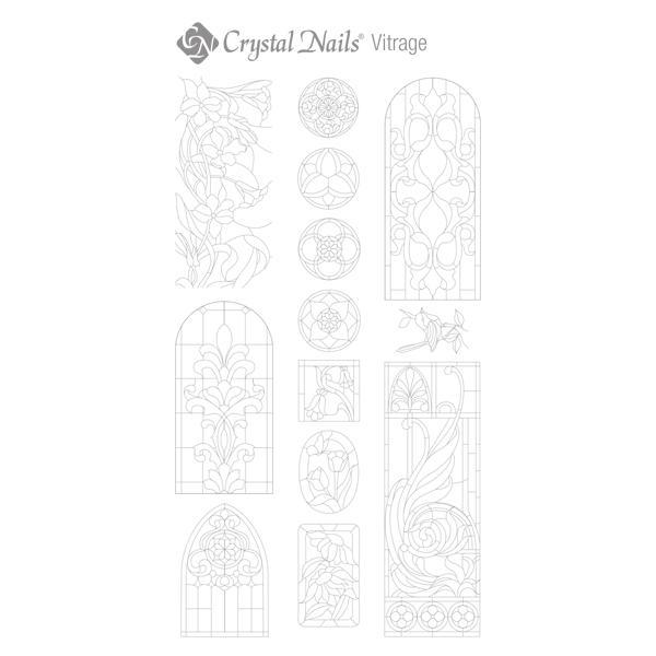 Színező alap matrica - Vitrage Ezüst